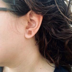 Mini Lt brown stud earrings